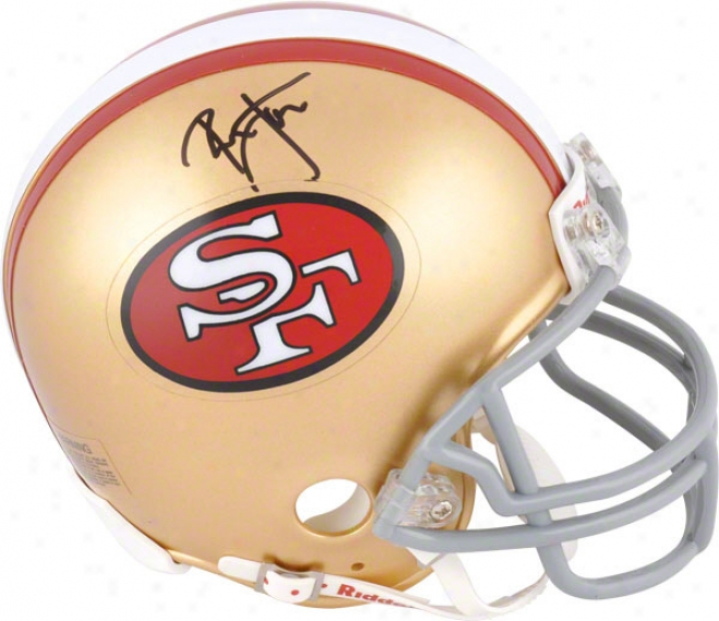 Ronnie Lott San Francisco 49ers Autographed Mini Helmet Signed In Black