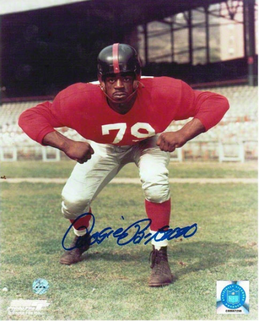 Rosie Brown Autographed New York Giants 8x10 Photo