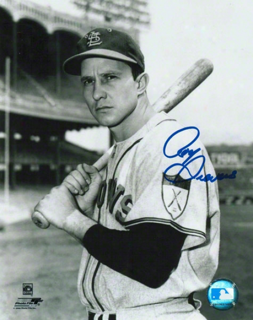 Roy Sievers St. Louis Browns Autographed 8x10 Photo Bat O nShoulder