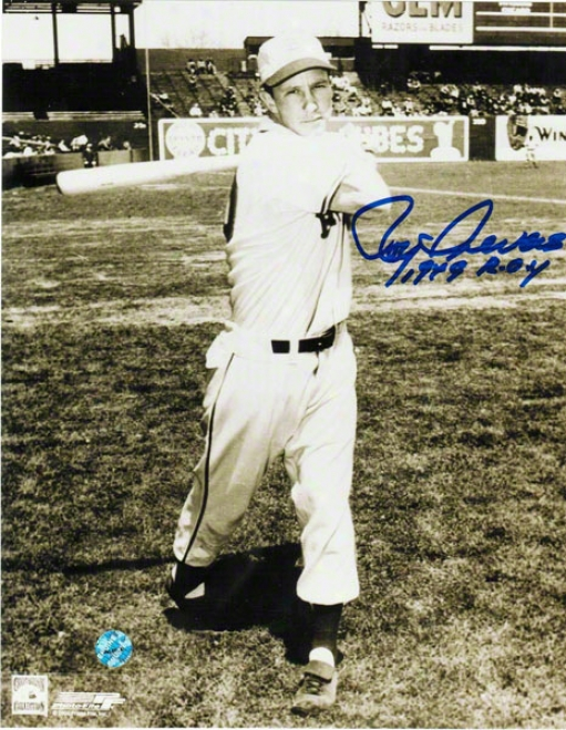 Roy Sievers St. Louis Browns Autographed 8x10 Photo Folloow Through Inscribed 1949 Roy