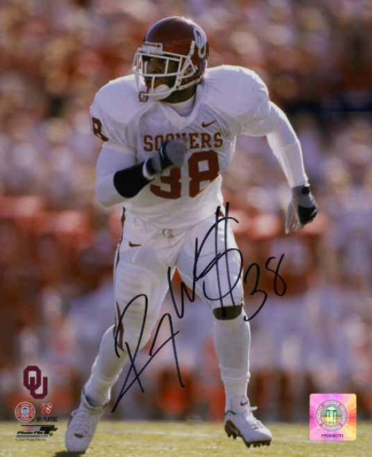 Roy Williams Oklahoma Sooners Autographed 8x10 White Jersey Photo