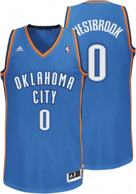 Russell Westbrook Blue Adidas Revolution 30 Swingmah Oklahoma City Thunder Jersey