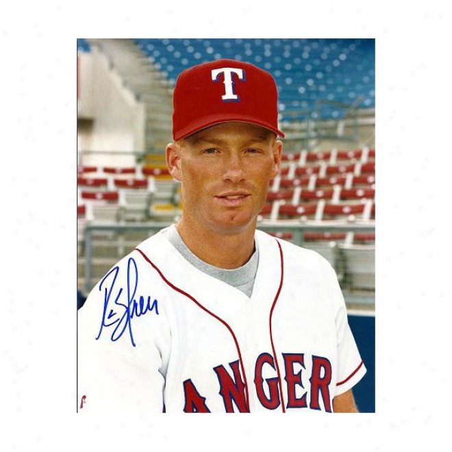 Rusty Greer Autographed Texas Rangers 8x10 Photo