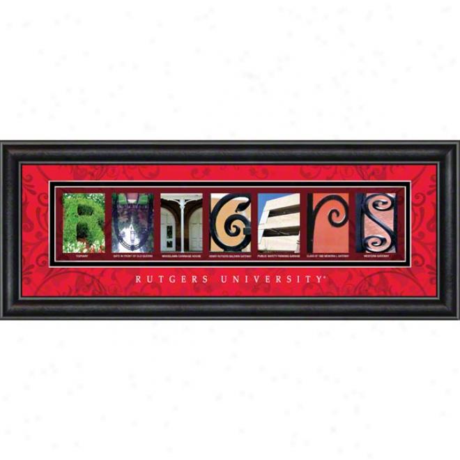 Rutgers Scarlet Knights Letter Art