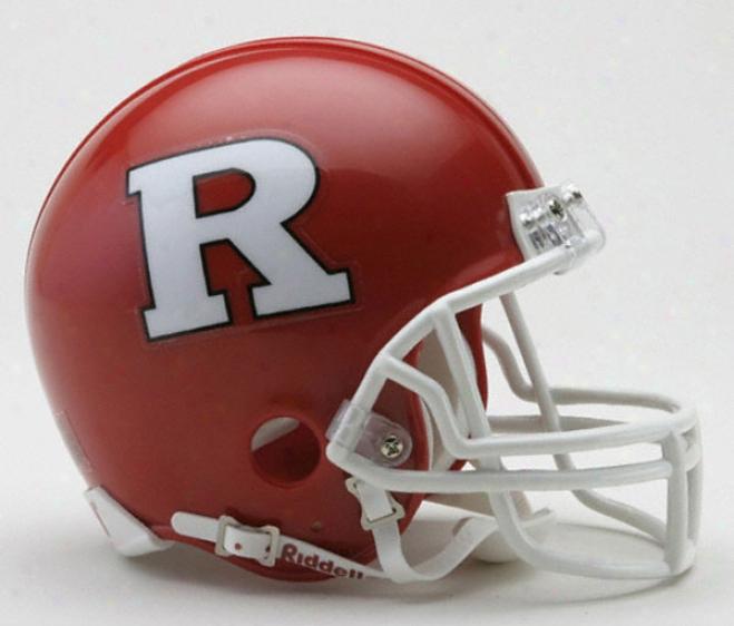 Rutgers Scarlet Knights Riddell Mini Helm