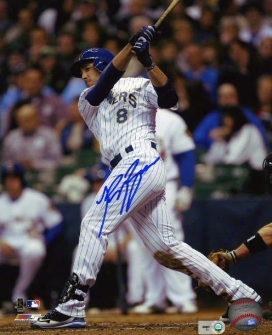 Ryan Braun Autographed 8x10 Photograph  Details: Milwaukee Brewers, Home