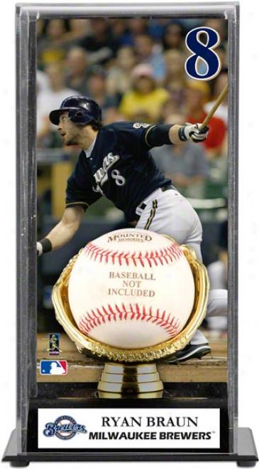 Ryan Braun Gold Glove Baseball Display Case  Details: Milwaukee Brewers