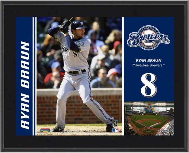 Ryan Braun Plaque  Details: Milwaukee Brewers, Sublimated, 10x13, Mlb Plaque
