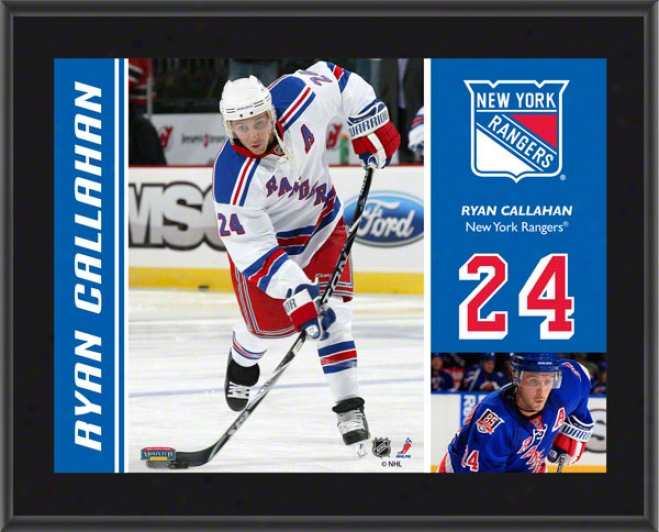 Ryaj Callahan Plaque  Details: New York Rangers, Sublimated, 10x13, Nhl Plaque