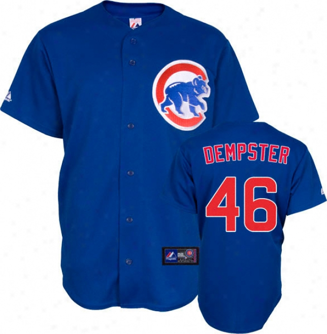 Ryan Dempster Jersey: Adult Majestic Alternate Blue Replica #46 Chicago Cubs Jersey