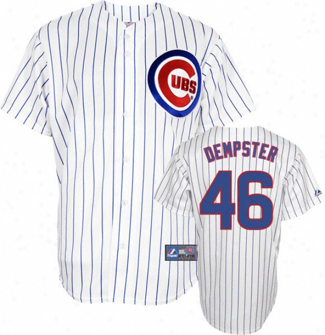 Ryan Dempster Jersey: Adult Majestic Home Pinstripe Replica #46 Chicago Cubs Jersey