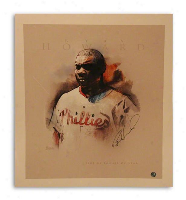 Ryan Howard Autographed Philadelphia Phillies 11x14 Photo