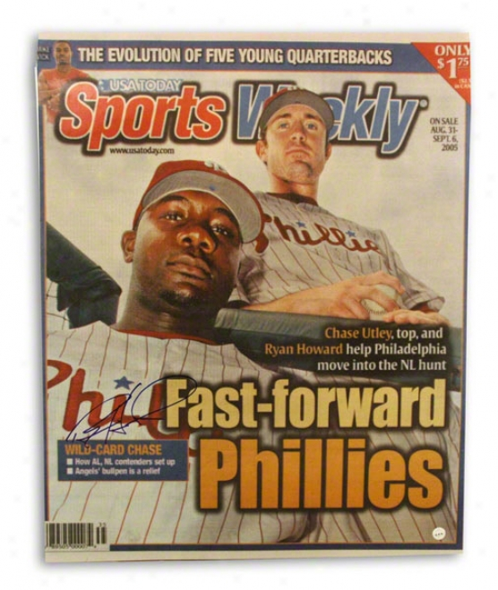 Ryan Howard Autographed Philadephia Phillies Sports Weekly 16x20 Photo
