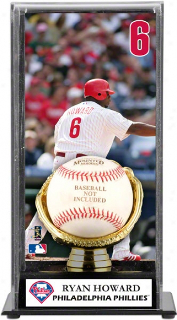 Ryan Howard Gold Glove Baseball Displah Case  Details: Philadelphia Phillies