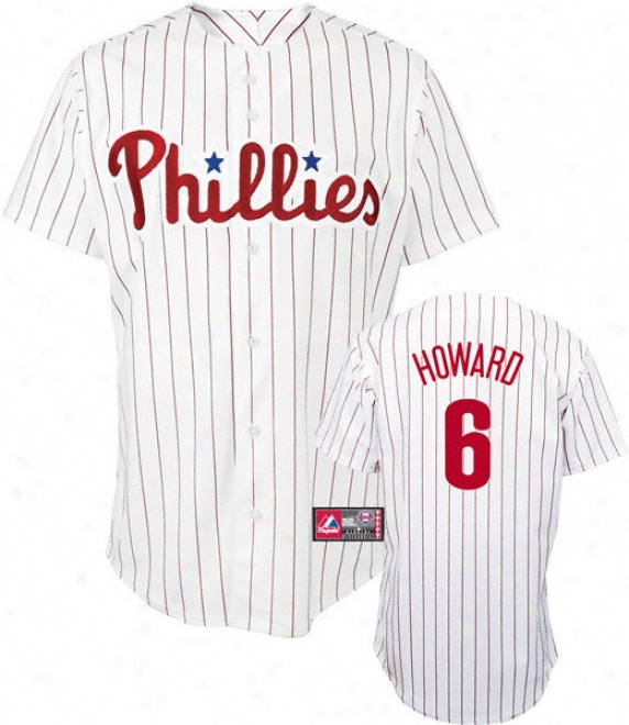 Ryan Howard Jersey: Adult Majestix Home Pinstripe Repoica #6 Philadelphia Phillies Jersey