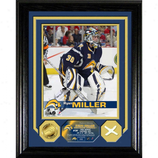 Ryan Miller Buffalo Sabres Photo Mint Wih Game User Net