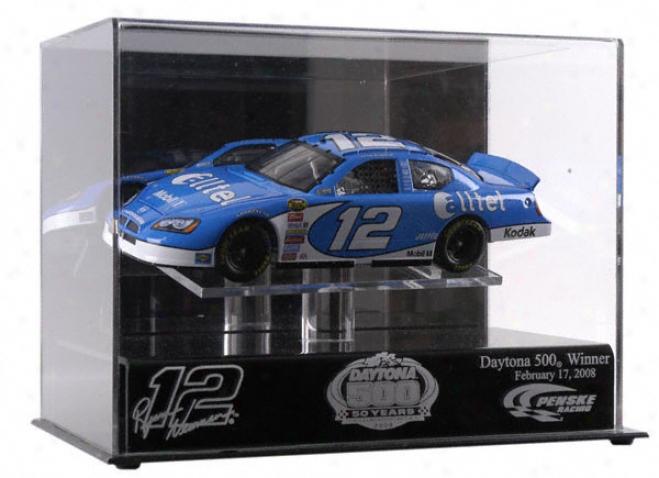 Ryan Newman 2008 Daytona 500 Winner 1/24th Scale Cease Cast Display Case