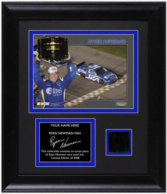 Ryan Newman Framed 6x8 Photograph With Race Tire And Perwonalized Nameplate