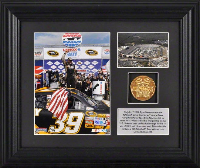 Ryan Newman Framed Photograph  Details: Lenox Industrial Tools 301, Godl Coin, Palte, Limited Edition Of 339