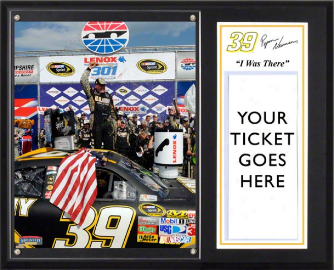 Ryan Newman Sublimated 12x15 Plaque  Details: 2011 New Hampshire Lenox Industrial Tools 301, &quoti Was There&quot