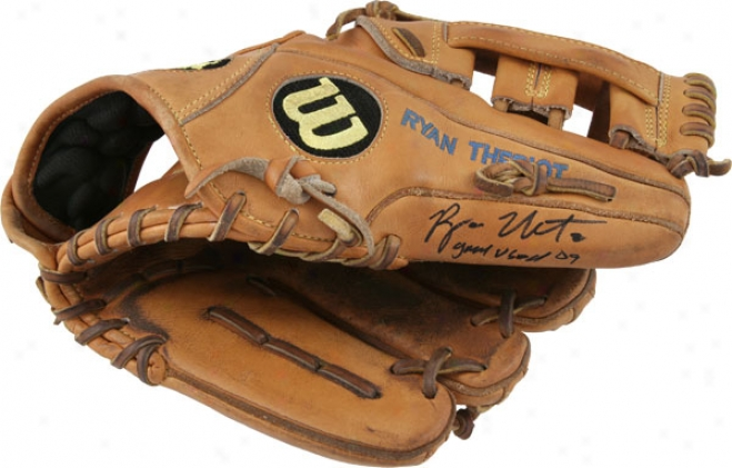 Ryan Theriot Autographed Glove With Game Used 09 Inscription