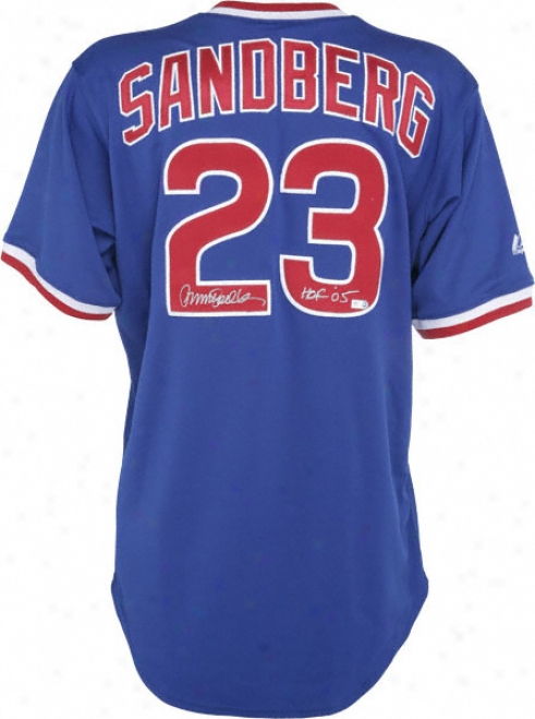 Ryne Sandberg Atuographef Jersey  Details: Chicago Cubs, Hof 05 Ibscription