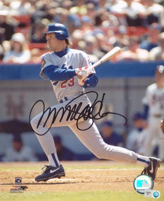 Ryne Sandberg Chicago Cubs - Hitting - Auttographed 8x10 Photograph