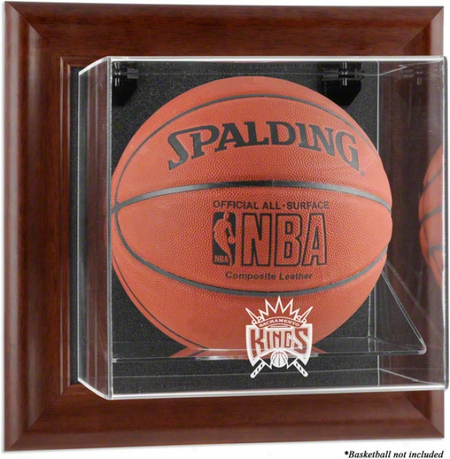 Sacramento Kings Framed Wall Mounted Logo Basketball Display Case