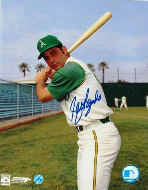 Sal Bando Oakland Athletics Autographed 8x10 Photo Batting Stance