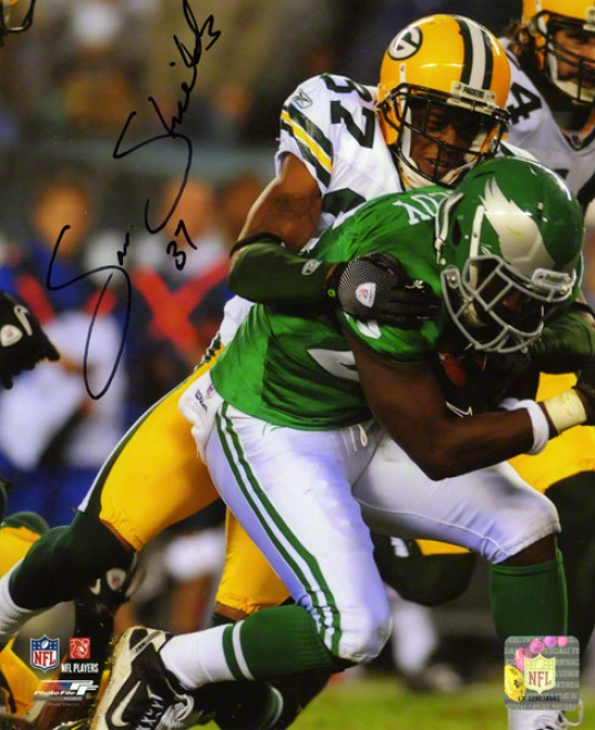 Sam Shields Autographed Photograph  Details: 8x10, Green Bay Packers