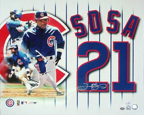 Sammy Sosa Chicago Cubs 20x24 Aytographed Photograph