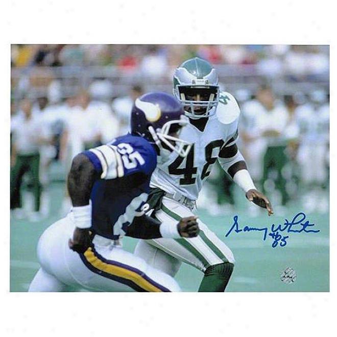 Sammy White Minnesota Vikings Autographed 8x10 Photo Vs Eagles