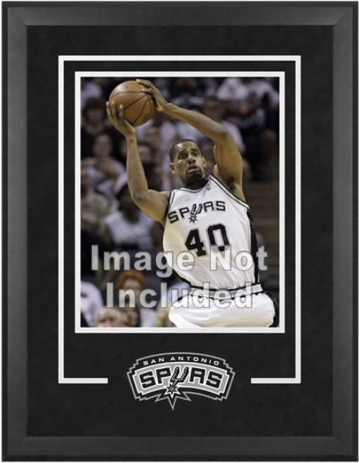 San Antonio Spurs 16x20 Vertical Setup Frame With Team Logo