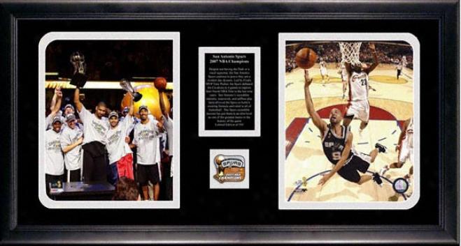 San Antonio Spurs 2007 Nba Champions 2-photograph Collectible Display Piece