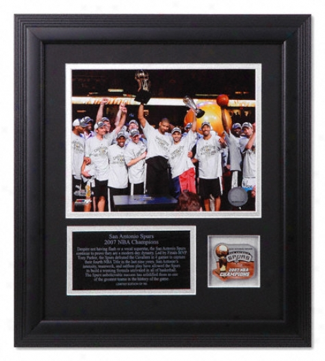 San Antonio Spurs 2007 Nba Champions Framed 8x10 Photograph Display Piece
