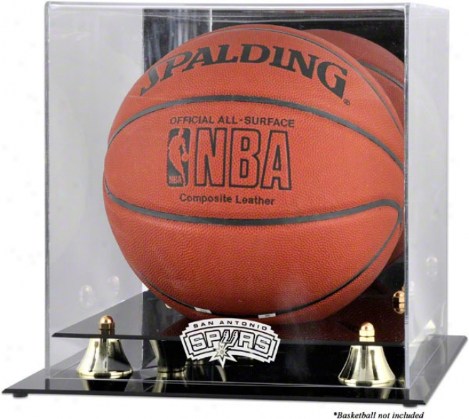 San Antonio Spurs Golden Classic Logo Basketball Display Case