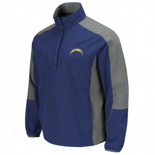 San Diego Chargers Determination 1/2 Zip Jacket