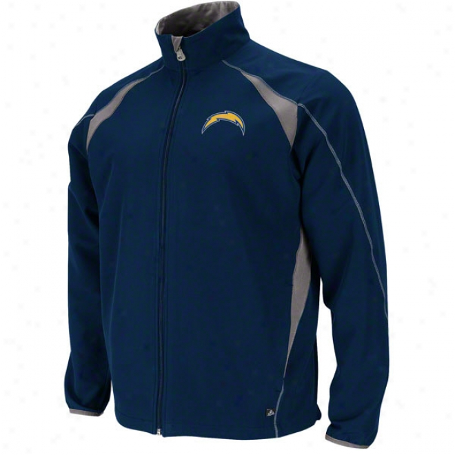 San Diego Chargers Determination Ii Navy Lightweight Full-zip Jacket