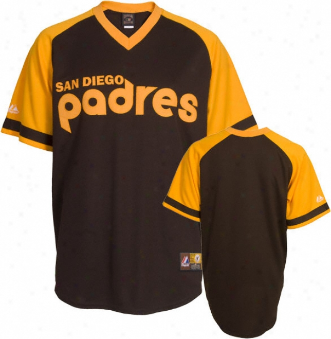 San Diego Padres Cooperstown Brown Replica Jersey