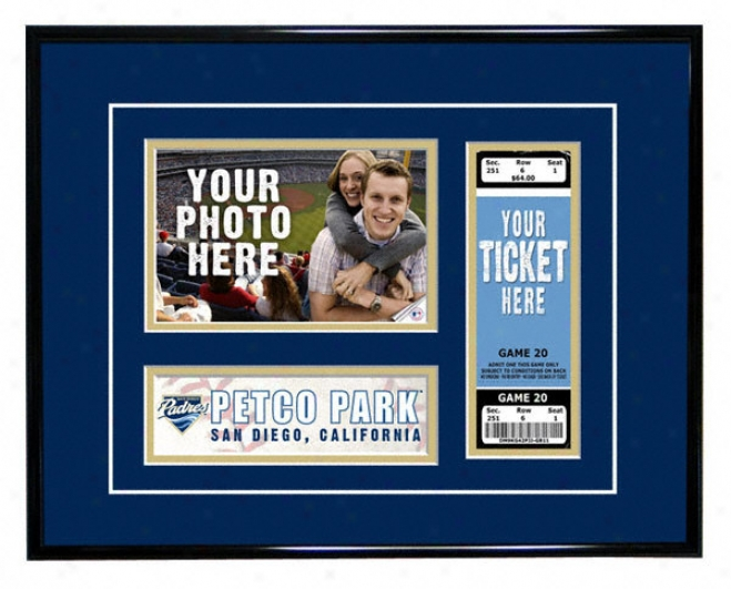 San Diego Padres - Game Day - Ticket Framee