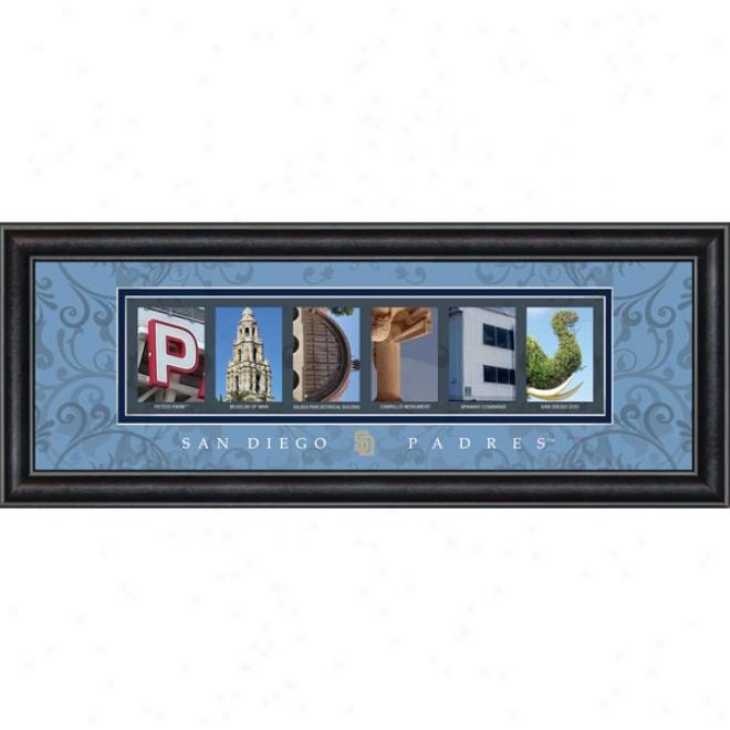 San Diego Padres Letter Art