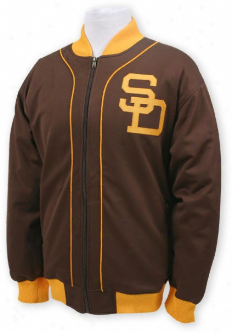 San Diego Padres Mitchell & Ness Sportsman's Track Jacket