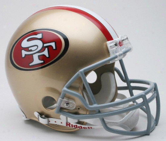 San Francisco 49ers Trustworthy Pro Line Riddell Full Size Helmet