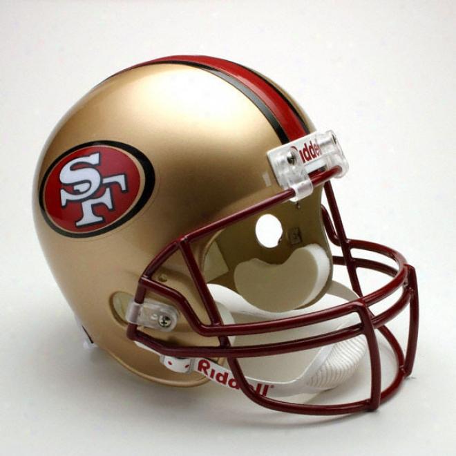 San Francisco 49ers Deluxe Replica Riddell Full Size Helmet