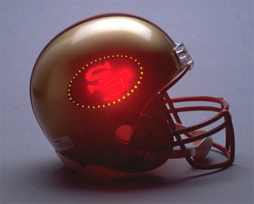 San Francisco 49ers Fiber Optic Full Size Replica Helmet