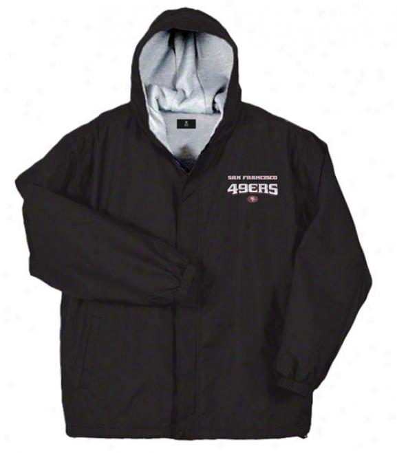 San Francisco 49ers Jacket: Black Reebok Legacy Jacket