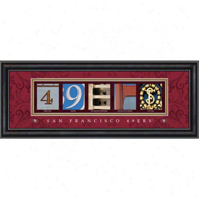 San Francisco 49ers Letter Art