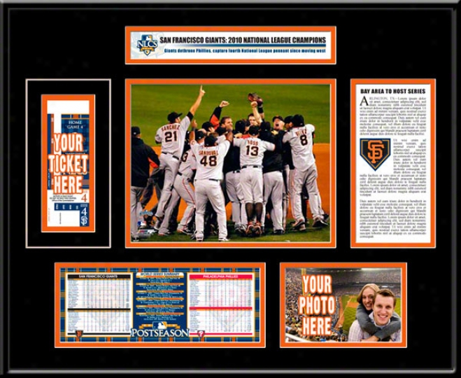 San Francisco Giants 2010 Nlcs Ticket Frame