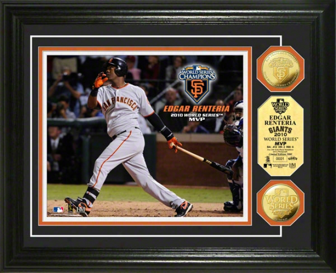 San Francisco Giants 2010 World Series Champions Mvp 24kt Gold Coun Photo Mint