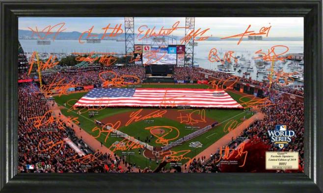 San Francisco Giants 2010 World Series Champions Signature Fields